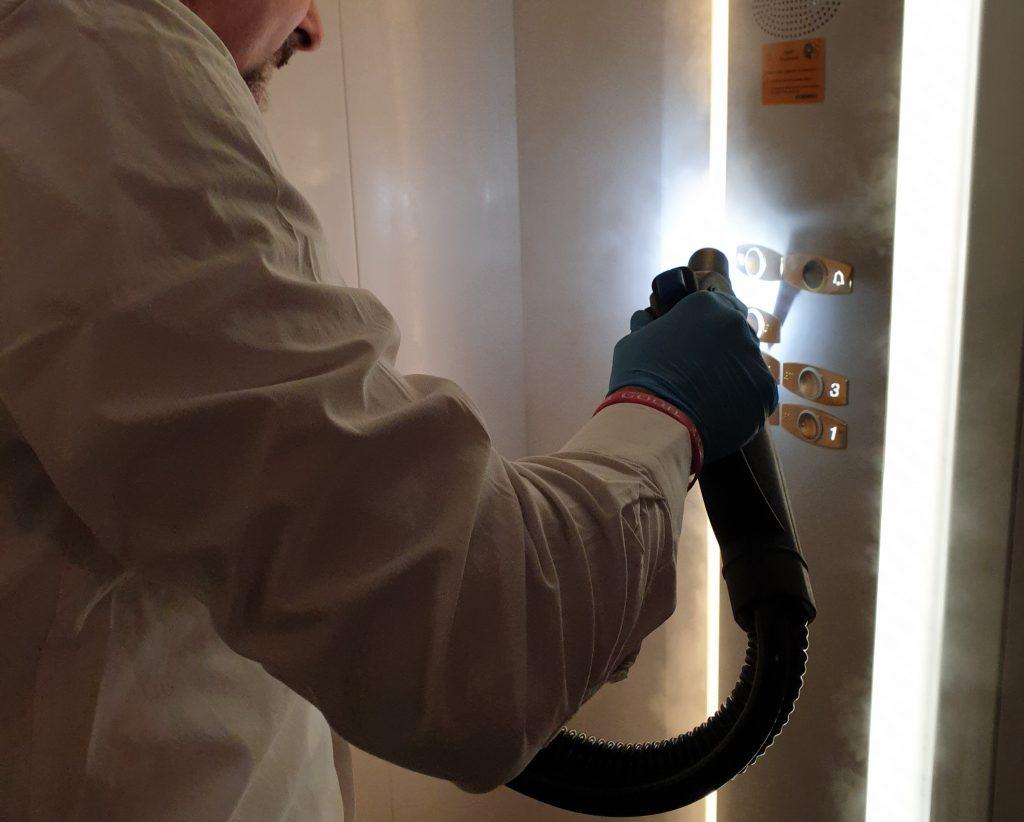 sanificazione a ozono ascensori
